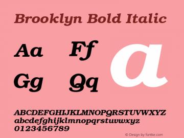 Brooklyn Bold Italic 001.003 Font Sample