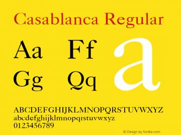 Casablanca Regular v1.0c图片样张