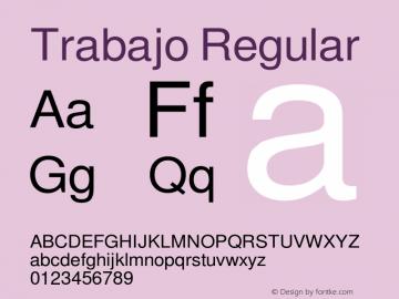 Trabajo Regular Macromedia Fontographer 4.1 4/17/99 Font Sample