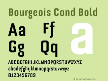 Bourgeois Cond Bold 4 Test图片样张