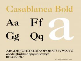 Casablanca Bold 001.003 Font Sample