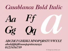 Casablanca Bold Italic 001.003 Font Sample