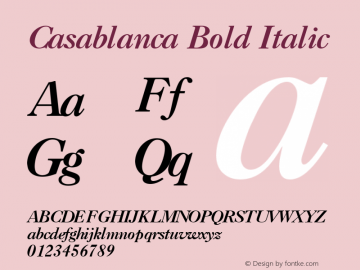Casablanca Bold Italic 001.003图片样张