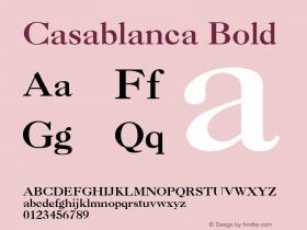 Casablanca Bold v1.0c Font Sample