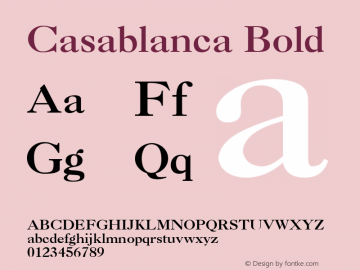 Casablanca Bold v1.0c图片样张