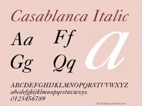 Casablanca Italic v1.0c Font Sample