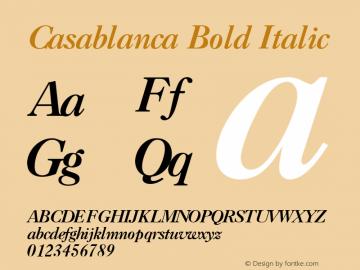 Casablanca Bold Italic v1.0c图片样张