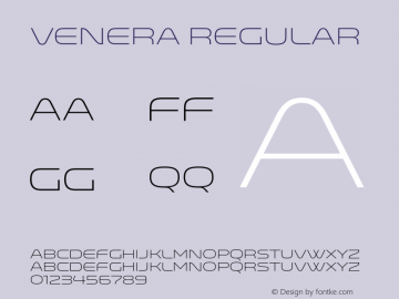 Venera Regular Venera300 Font Sample