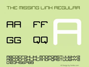 The Missing Link Regular Version 1.0 Font Sample