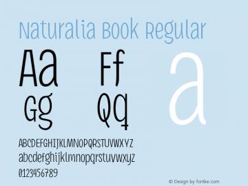 Naturalia Book Regular Version 1.7 Font Sample