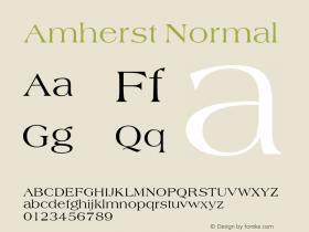 Amherst Normal 1.0 Tue Nov 17 21:11:47 1992 Font Sample