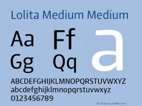 Lolita Medium Medium Version 1.000 Font Sample