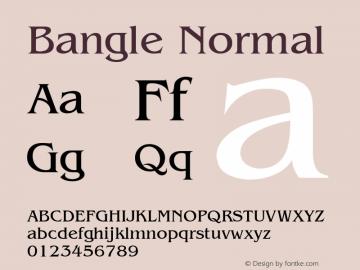 Bangle Normal Altsys Fontographer 4.1 1/27/95 Font Sample