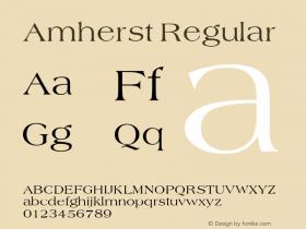 Amherst Regular v1.0c Font Sample