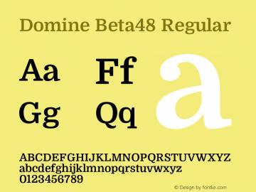 Domine Beta48 Regular Version 0.048图片样张