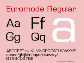 Euromode Regular v1.00 Font Sample