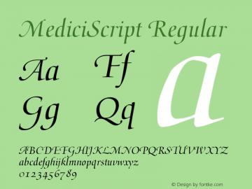 MediciScript Regular V.1.0 Font Sample