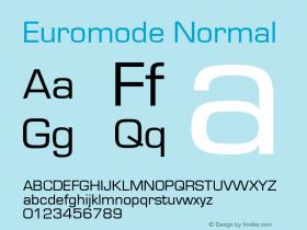 Euromode Normal 1.0 Wed Nov 18 00:55:53 1992 Font Sample