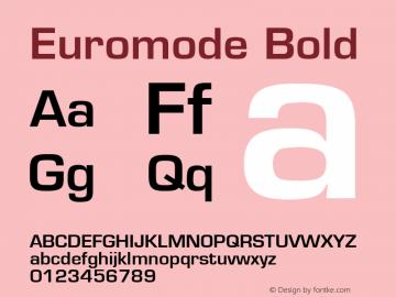 Euromode Bold 001.003 Font Sample