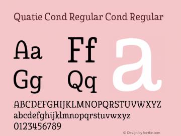 Quatie Cond Regular Cond Regular Version 1.000图片样张