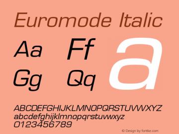Euromode Italic v1.00 Font Sample