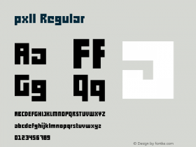pxll Regular Version 1.00 December 18, 2012, initial release图片样张
