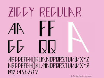 Ziggy Regular Version 1.000 Font Sample