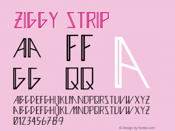 Ziggy Strip Version 1.000 Font Sample
