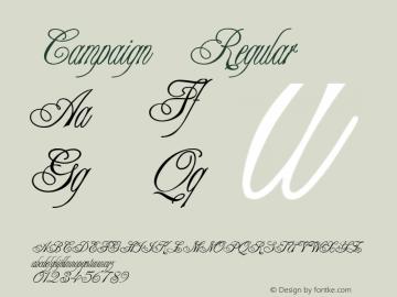 Campaign Regular v1.0c Font Sample