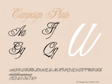 Campaign Plain 001.003 Font Sample