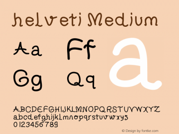 helveti Medium Version 001.000 Font Sample
