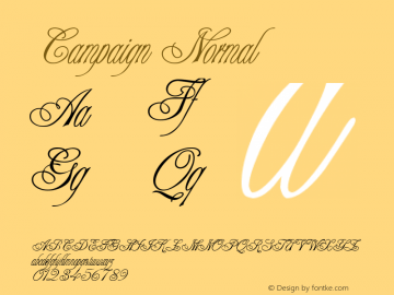 Campaign Normal 1.0 Tue Nov 17 22:59:05 1992 Font Sample