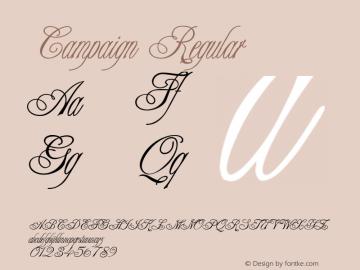 Campaign Regular 001.003 Font Sample
