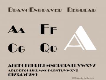 BravoEngraved Regular v1.0c Font Sample