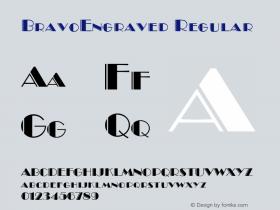 BravoEngraved Regular 001.003 Font Sample