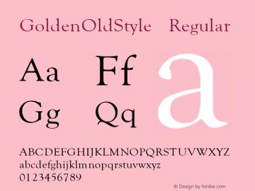 GoldenOldStyle Regular v1.0c Font Sample