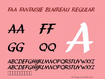 FAA Fantaisie Blaireau Regular Version 1.00 February 2, 2012, initial release图片样张