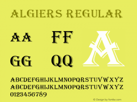 Algiers Regular v1.0c Font Sample