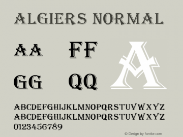 Algiers Normal 1.0 Tue Nov 17 20:55:32 1992 Font Sample