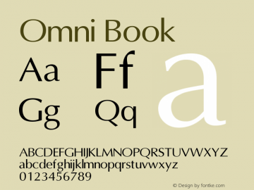 Omni Book Version 001.000 Font Sample