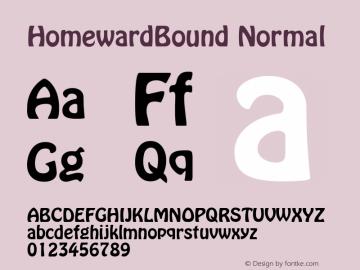 HomewardBound Normal 1.0 Wed Nov 18 09:17:15 1992 Font Sample