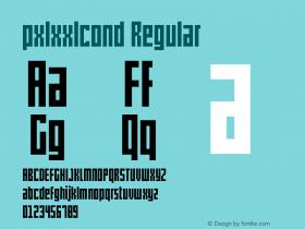 pxlxxlcond Regular Version 1.00 December 18, 2012, initial release图片样张
