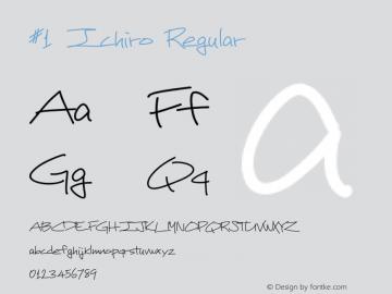 #1 Ichiro Regular Version 1.000 2013 initial release图片样张