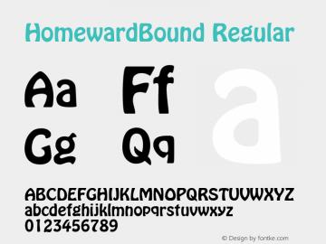 HomewardBound Regular v1.0c Font Sample