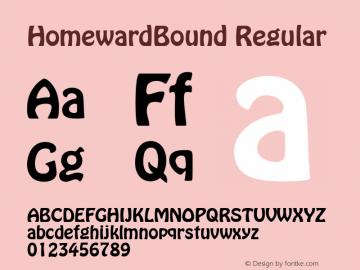 HomewardBound Regular 001.003 Font Sample