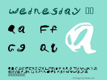 wednesday 74 1.0 Font Sample