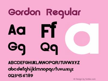 Gordon Regular Altsys Fontographer 3.5  9/19/92 Font Sample