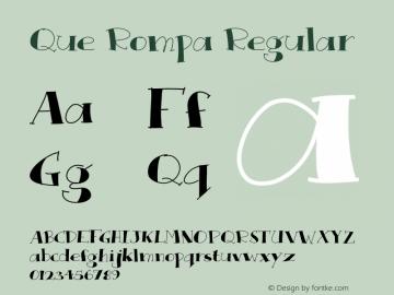 Que Rompa Regular Version 1.000 2013 initial release图片样张