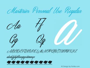 Masterics Personal Use Regular Version 1.000 Font Sample