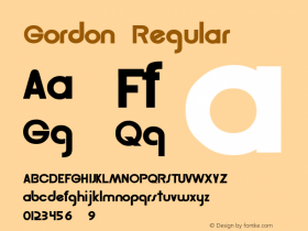 Gordon Regular Altsys Fontographer 3.5  3/7/92 Font Sample